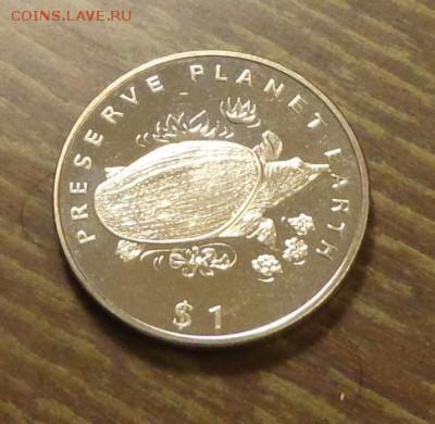 ЛИБЕРИЯ - доллар ЧЕРЕПАХА до 7.03, 22.00 - Либерия черепаха - 1