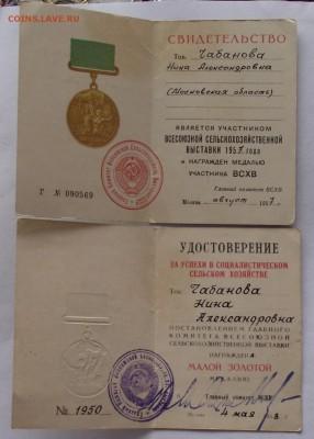 комплект медалей ВДНХ,ВСХВ,знаки на женщину,13.03.22.00мск - DSCF5777.JPG