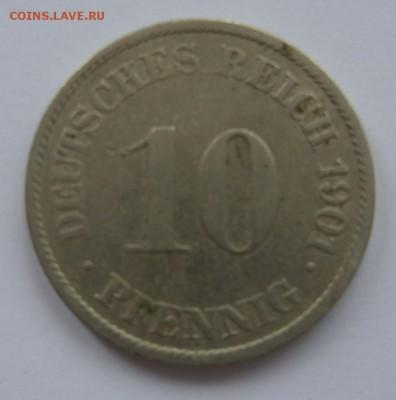 Германия, иностранщина (наборы, на вес, евро), царизм, СССР. - 10 пф 1901 J - 1.JPG