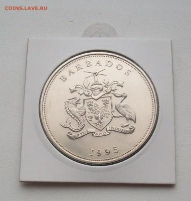 Крона Шайба Барбадос 5$ долларов 1995 50 лет ООН - 100_7209