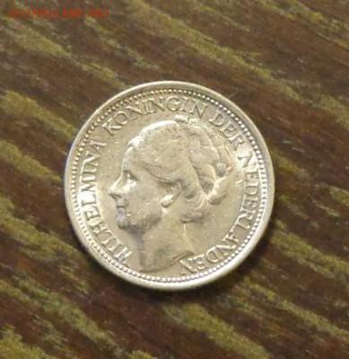 НИДЕРЛАНДЫ - 10ц 1941 серебро до 14.04, 22.00 - Нидерланды 10 ц 1941 крошечная