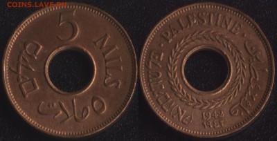 Монеты с отверстием в центре - palestina_5_mils_1942 бронза