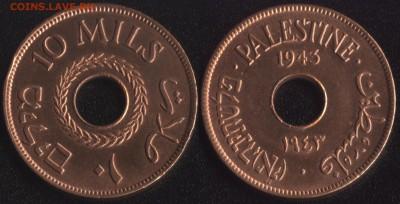 Монеты с отверстием в центре - palestina_10_mils_1943 бронза