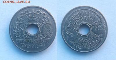 Голландская Ост-Индия 5 центов 1922 - Индия+ Нидерландская (Голландская Ост-Индия) 5 центов 1922