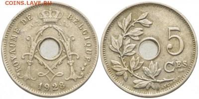 Монеты с отверстием в центре - 5 1928 на франц