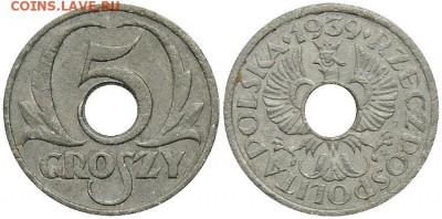 Монеты с отверстием в центре - 5 грош 39.JPG