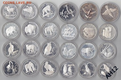 Животные на монетах - Cooc Isl