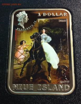 1 доллар Ниуэ , 2010г. Карл Брюллов  до 30.04.17г. - b3