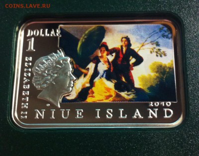 1 доллар Ниуэ ,  2010г. , Франциско Гойя , до 30.04.17г. - f4