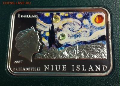 1 доллар Ниуэ , 2007г. Ван Гог , до 30.04.17г. - G3