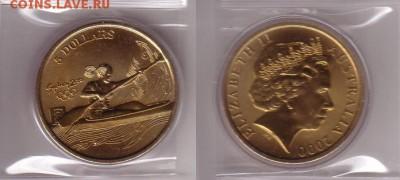 Австралия 5$ долларов 2000 Гребля на байдарках и каноэ - каное.JPG