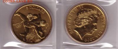 Австралия 5$ долларов 2000 Греко-римская борьба - греко-римская.JPG