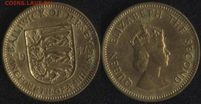 4 шиллинга 1957 до 22:00мск 03.05.17 - Джерси 1-4 шиллинга 1957