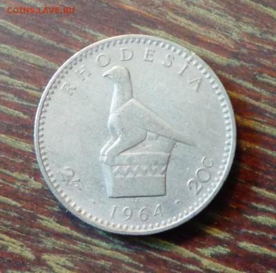 РОДЕЗИЯ - 20ц ОРЕЛ до 9.05, 22.00 - Родезия 1964 Орел