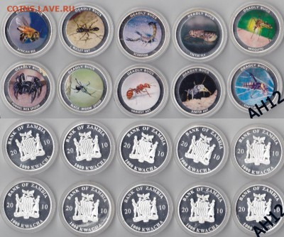 Животные на монетах - BugsA