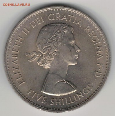 Великобритания крона 1960 Выставка 08.05 в 22.00мск (Д963) - 4-60а