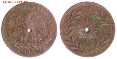 Старая Мексика. - Мексика жетон 1875