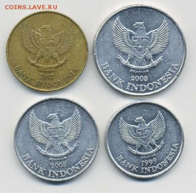 Подборка рупий Индонезии, 4 шт. - подборка_Индонезия-4шт_а