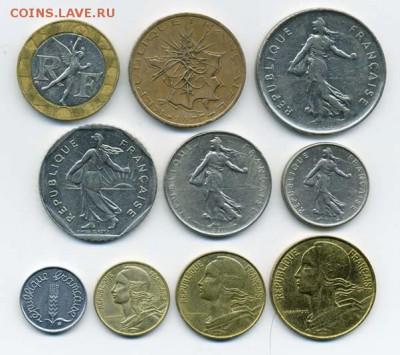 Подборка монет Франции, 10 шт. - подборка_Франция-10шт_а