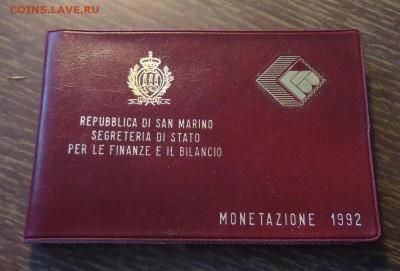САН-МАРИНО - годовой набор 1992 г. книжечка до 30.05, 22.00 - Сан-Марино набор 1992 книжечка