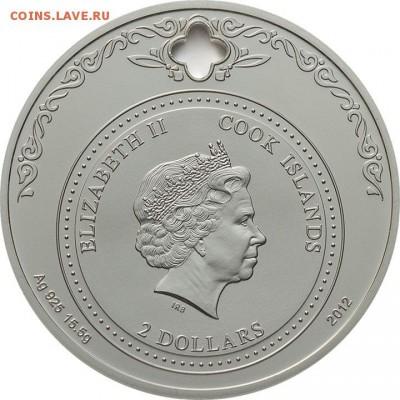 Христианство на монетах и жетонах - Ostrova-Kuka-2-Dollara-Nikolay-Chudotvorec(1)