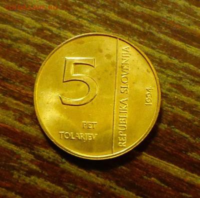 СЛОВЕНИЯ - 50 лет БАНКУ до 4.06, 22.00 - Словения 5 толаров 50 л банку Словении