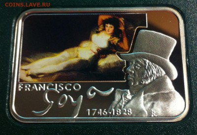 1 доллар Ниуэ ,  2010г. , Франциско Гойя , до 05.06.17г. - f5