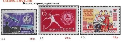 СССР 1961-1964. ФИКС - 1961.1 Блоки, серии, одиночки