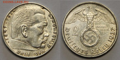 2 марки 1937 А Германия III Рейх до 12.06 - IMG_7356.JPG