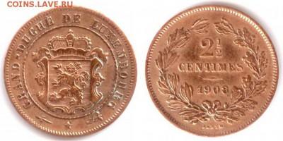 Люксембург - Люксембург 2-1.2 сентима 1908 (u) KM-21