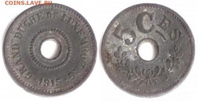 Люксембург - Люксембург 5 сентим 1915 KM-27
