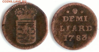 Люксембург - Люксембург 1.2 лиарда 1783 (b) KM-10 159