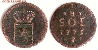 Люксембург - Люксембург 1.8 соля 1775 (b) KM-5 223
