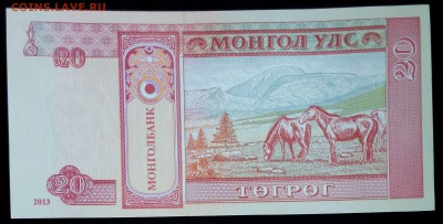 Монголия 20 тугриков 2013 unc до 02.07.17. 22:00 мск - 1