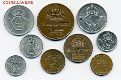 Подборка монет Швеции 9 шт. - подборка_Швеция-9шт_а