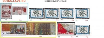 СССР после 1961 г. Марки с надпечатками. ФИКС - с надпеч.