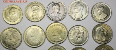 1 Бат Таиланд - 20 разных монет - Таиланд 1.JPG