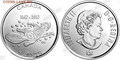 Канада. 5 центов. 2017. 150 лет Конфедерации. Живые традиции. UNC - ca_5cents_2017_canada150_living_traditions_pic