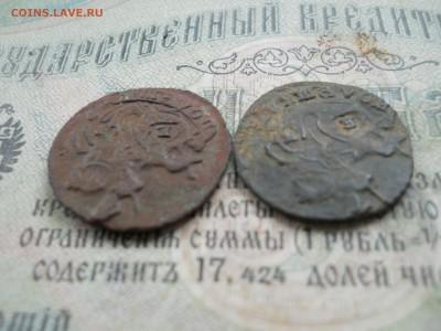 Две полушки Е2 1768-69 гг Короткий аук - DSCN0010.JPG