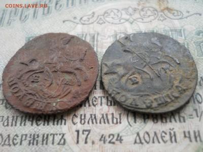 Две полушки Е2 1768-69 гг Короткий аук - DSCN0009.JPG