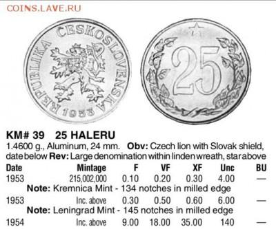 Чехословакия 25h 1954 (нечастый год по Краузе) до 22 07.07 - 1