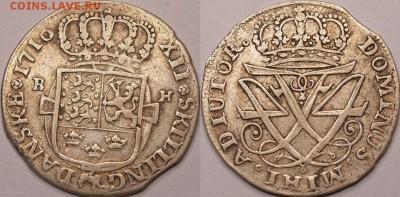 Дания - Friderik IV (1699-1730)-12 skilling 1716