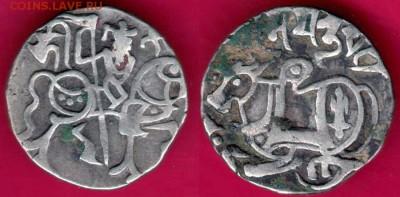 Животные на монетах - Индия Султанат Дели Династия Саманта Дева джитал 850 Sri Samanta Deva Tye#15