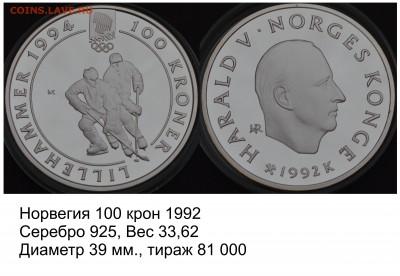 Хоккей на монетах - Норвегия 100 крон 1992