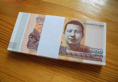 Камбоджа 100 риелей 2014 год.  UNC. пачка, 100 штук. - Камбоджа 100