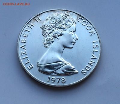 Острова Кука 5$ долларов 1978 птицы Серебро - IMG_1355.JPG