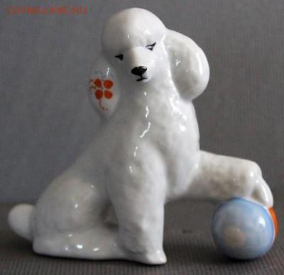 Фарфоровая статуэтка ,,Пудель с мячом,,Дулево.14.08.17 - 328.JPG