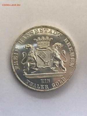 Бремен, стрелковый талер 1865 г., до 25.08 в 22.00 по Мск - IMG_3494.JPG