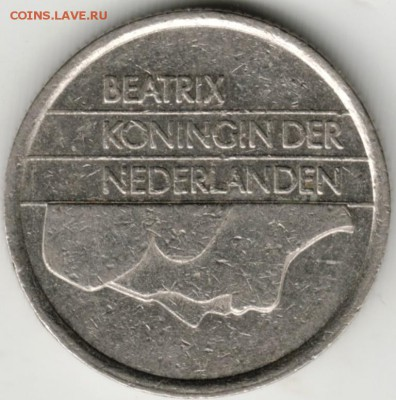 Нидерланды 25 центов 1987 г. до 24.00 28.08.17 г. - Scan-170819-0040