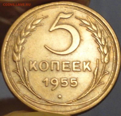5 копеек 1955 г., XF, до 22:45 мск 3.09.2017 г. - 5-55-2.JPG